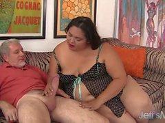 Fatty Latina BBW Lorelai Givemore riding a fat dic