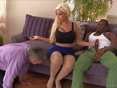 Huge tit latina milf Bridgette B gets her feet sucked