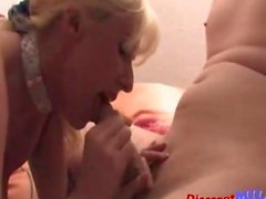 blonde milf comes in and gets doggy style smashed