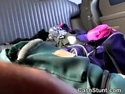 Blonde Lily Rader Eaten Out During Stunt In Backseat