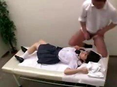 Voyeur der Amateur asiatischen Körpermassage