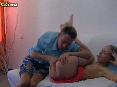 Graceful leggy Teen Megan gets banged by her boyfriend
