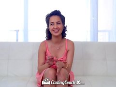 CastingCouch-X - Shy college student Stephanie Carter first porn audition