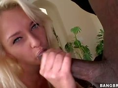 Blonde haired euro girl Ivana Sugar takes black sausage