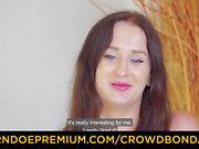 CROWD BONDAGE - BDSM public sex with hot Emily Ross