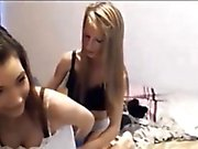 Nice and hot lesbian teens stripping