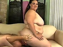 Chubby Latina Angelina loves to be treated like a slut by a hung guy