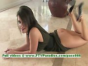 Esterella tender busty brunette chick toying pussy with a vibrator
