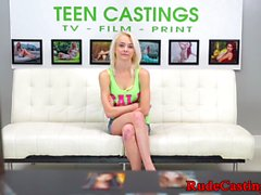 Roughfucked casting teen gets pussy screwed