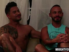 cumshot ile Latin eşcinsel flip flop