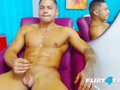 Brandon Sullivan on Flirt4Free Guys - Latino Hunk Has Perfect Muscular Body