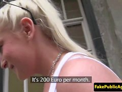 Euro babe fucks a stranger for cash