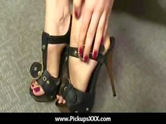 Foot fetish - Sexy babes fucking cock with their feet 06