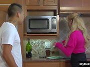 Taylor Wane is a horny divorcee MILF, who calls up her pizza