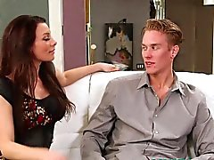 Pornstar Angel Reed blowing tenants cock
