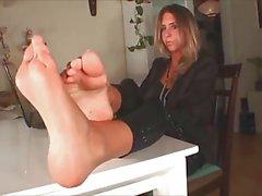 Milfs caldo con piedi sexy del