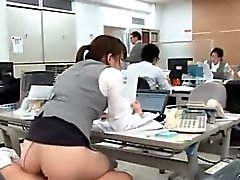 See how this office hoe with big tits