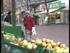 Granny German Lady Sucks Grandson Caught Jacking Off