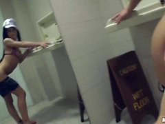 blow job in the toilet