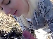 Pickedup amateur euro cocksucking outdoors