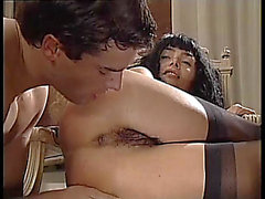 Venere bianca in darksome nylons gangbanged in a luxury abode