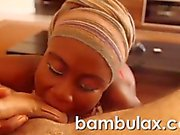 Real African teen whore blowjob cum in mouth