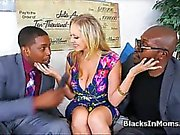Bigtit MILF fucked by two BBCs