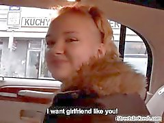 Cute blonde amateur girl gets talked part3