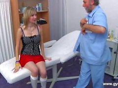 Luca went to her gynecologist. Full body, anal and pussy examination!