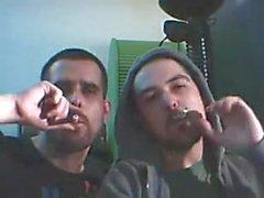 Rauchen und Küsse