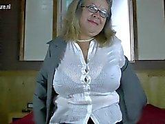 Classy granny with big tits and 1fuckdatecom