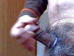 Japanischen alte Mann Masturbation erigierter Penis