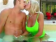 Chastity anal threesome and cum facialed