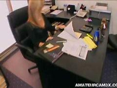 secretario follada enérgica el jefe