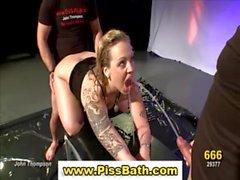 Fetish slut fuck piss shower