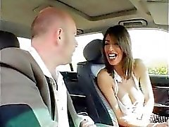 Car fucking with hot Italian chick