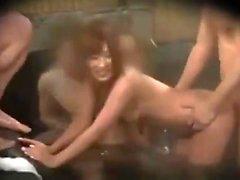 Asian in Trouble in Public Shower
