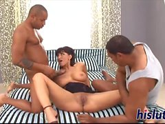 Stunning Erica gets rammed by a BBC