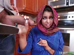 Naughty Arab babe Ada gets ripped hard
