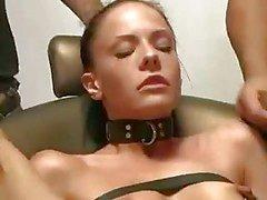 Brutal BDSM Gangbang Penetração dupla !