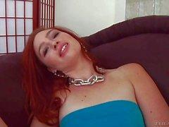 Dildo addict Jodi Taylor gets double pleasure