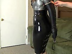 Latex Office Bondage