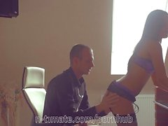 Iwia Gets Creampied in Office Sex