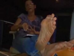 Maria - Verschwitzte Erdige schwarze Socken