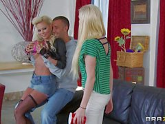 Busty blond milf Nikita Von James is Allison's hot slutty