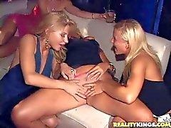 Savannah Holly Amanda and Kayla have orgy
