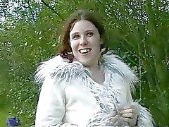 Mollige Bewunderer Rebecca blinkend Freien In Public