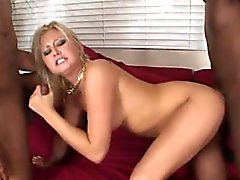 Kinky Stacey pleasures two long members