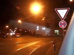 Lodisar Bus - mogna den tyska blondin i skön fittan crammed i kuk i bilen