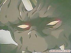 La colegiala hentai brutal de Monstruos puto duro